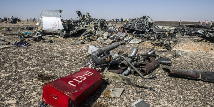 Flight 7K9268 crashed on Sinai Peninsula