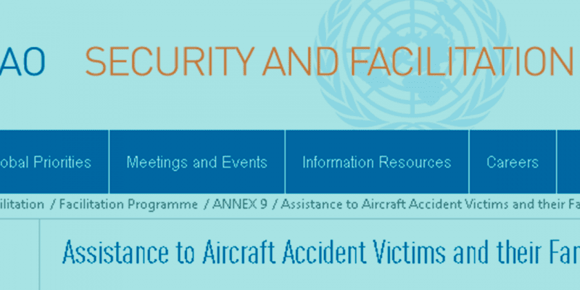 ICAO has new website on Family Assistance