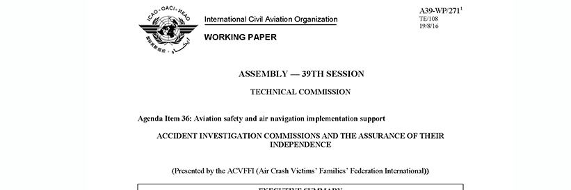 Repository of all recommendations following accident investigations, including those directed to ICAO